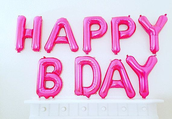 Pink Happy Birthday Letter Balloons.Pink Happy Birthday Balloons Happy Birthday Letter By