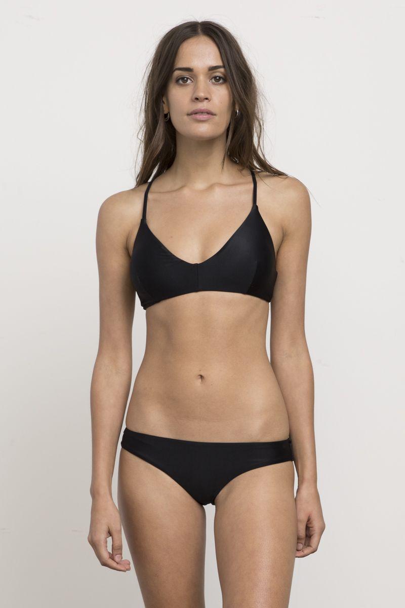 9cc6b78f949 Solid Cross Back Bikini Top   #ANYWEARSWIM   Bikini tops, Bikinis ...