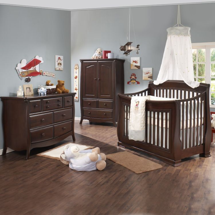 Dark Wood Nursery Furniture Set