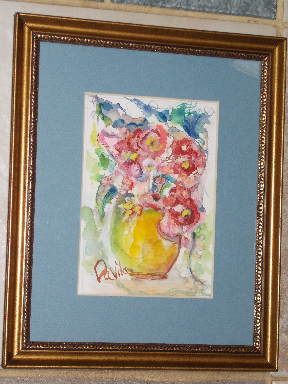 Tiffiney Roses original impressionistic watercolor painting hand ...
