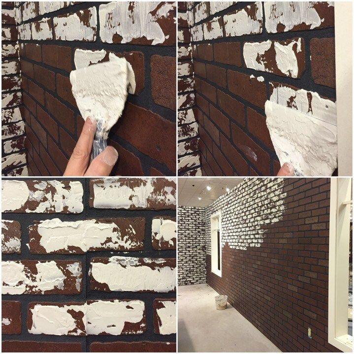 How To Diy A White Faux Brick Wall Schneiderman S The Blog Design And Decorating Faux Brick Faux Brick Walls Faux Brick Panels