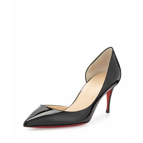 7e99c01d09 replica Christian Louboutin Iriza Patent Red-Sole Half-d'Orsay Pump, Black  3-432 $163,All christian louboutin replica shoes outlet online|all- louboutins.com