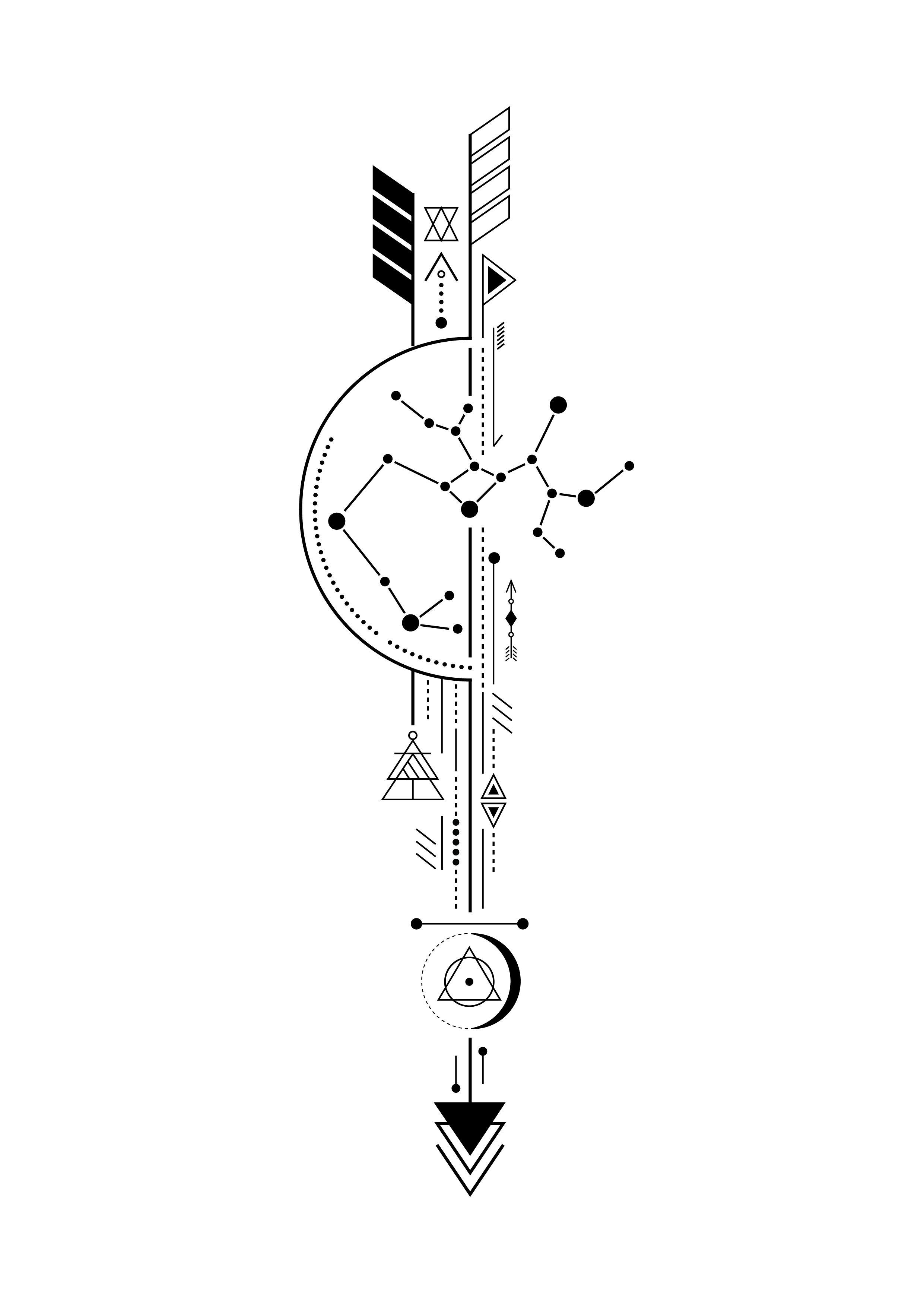 Sagittarius Arrow Tattoo