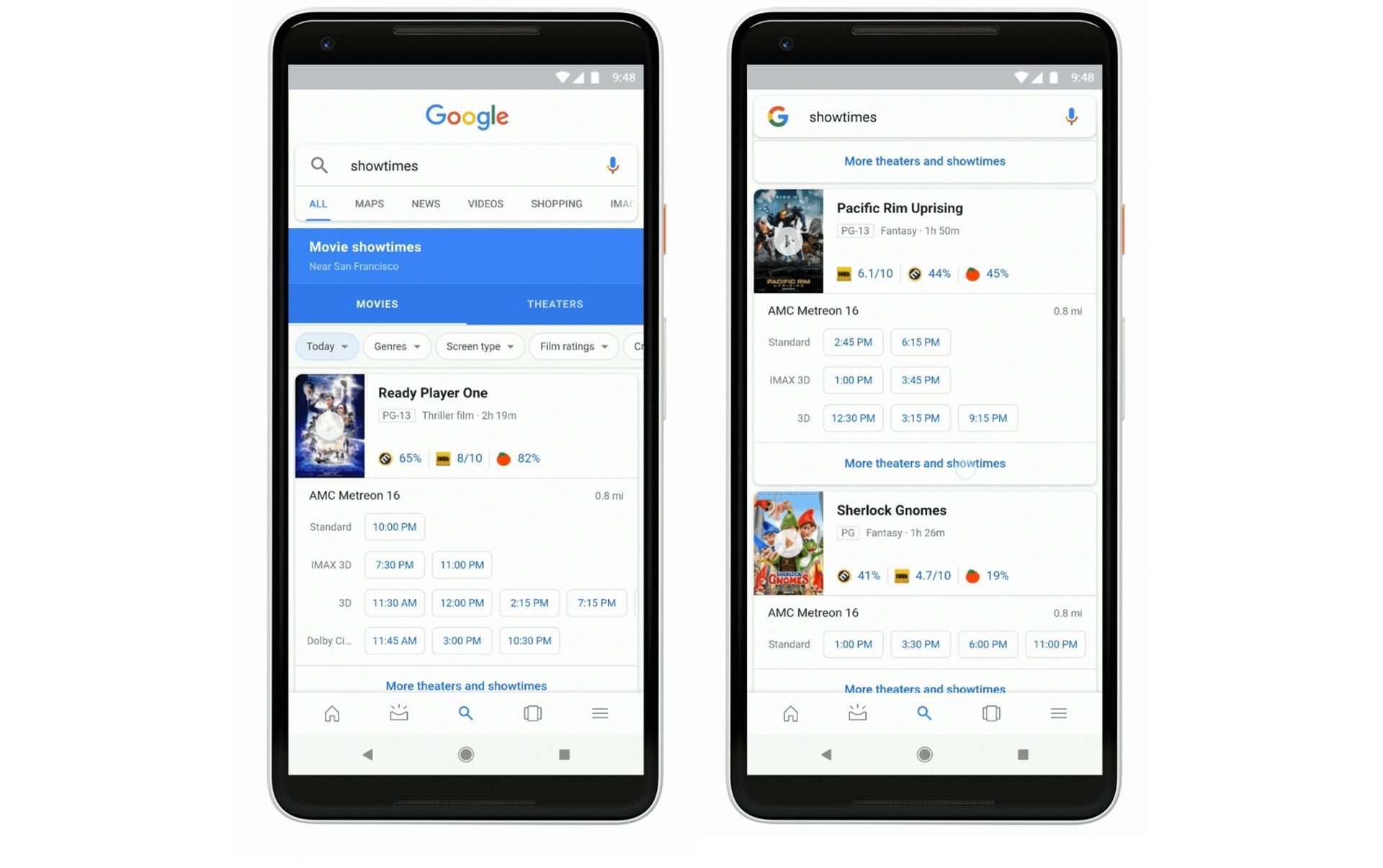 Google Search On Mobile Gains Additional Movie Theater Filters