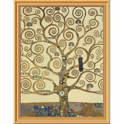 """Global Gallery 'The Tree of Life IV' by Gustav Klimt Framed Painting Print on Canvas Size: 36"""" H x 28"""" W x 1.5"""" D"""