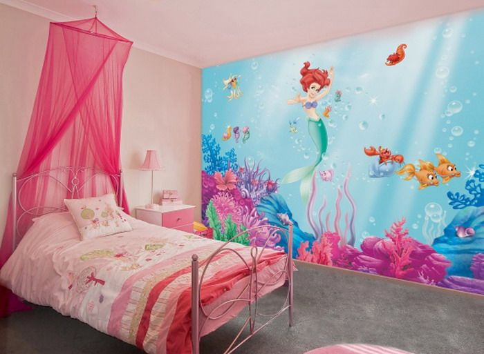 Little Mermaid Wall Mural | Little mermaid bedroom, Disney ...