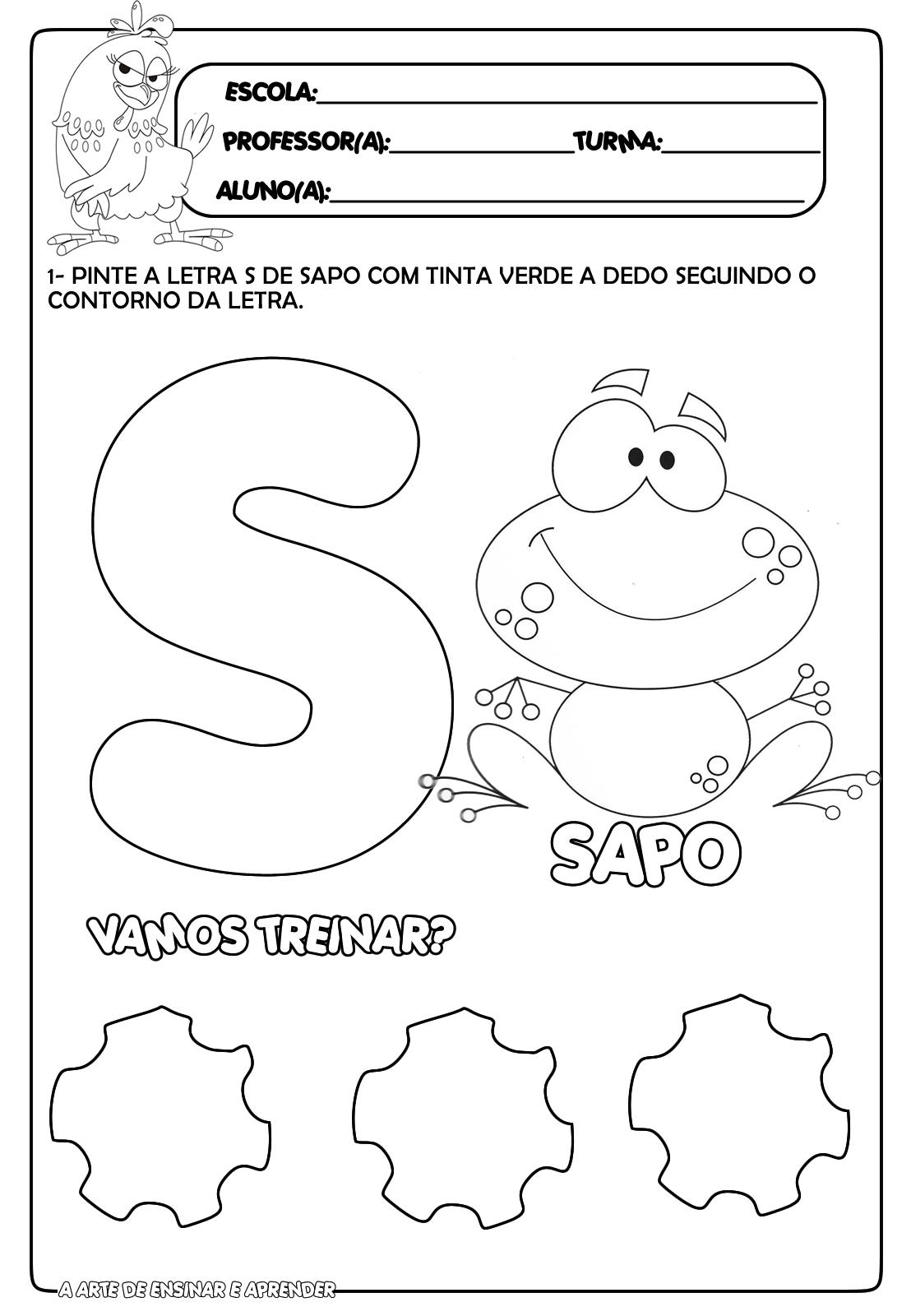 Muitas vezes Atividade pronta letra S | atividades linguagem | Pinterest  NN95