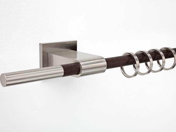 Nickel Curtain Rod With Wood Design S Izobrazheniyami Shtory