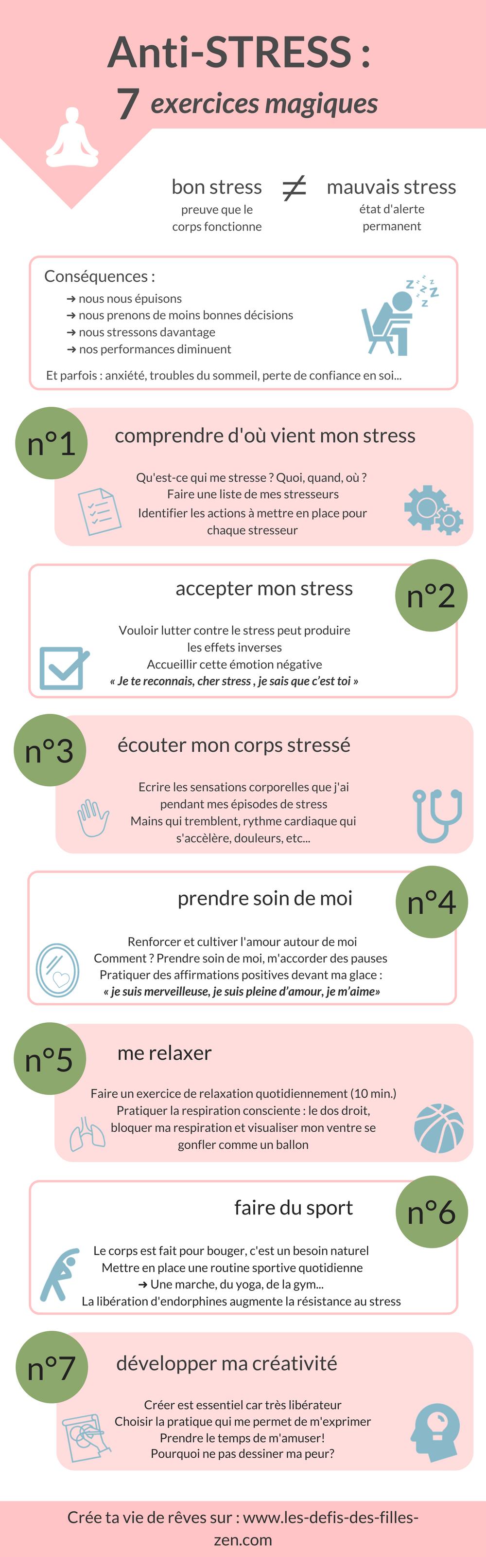 Anti Stress 7 Exercices Magiques Pour Lutter Contre Le Stress Lutter Contre Le Stress Stress Exercice