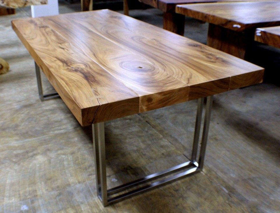 Heart Redwood Dining / Conference Table // Handmade Steel Legs $2695 108