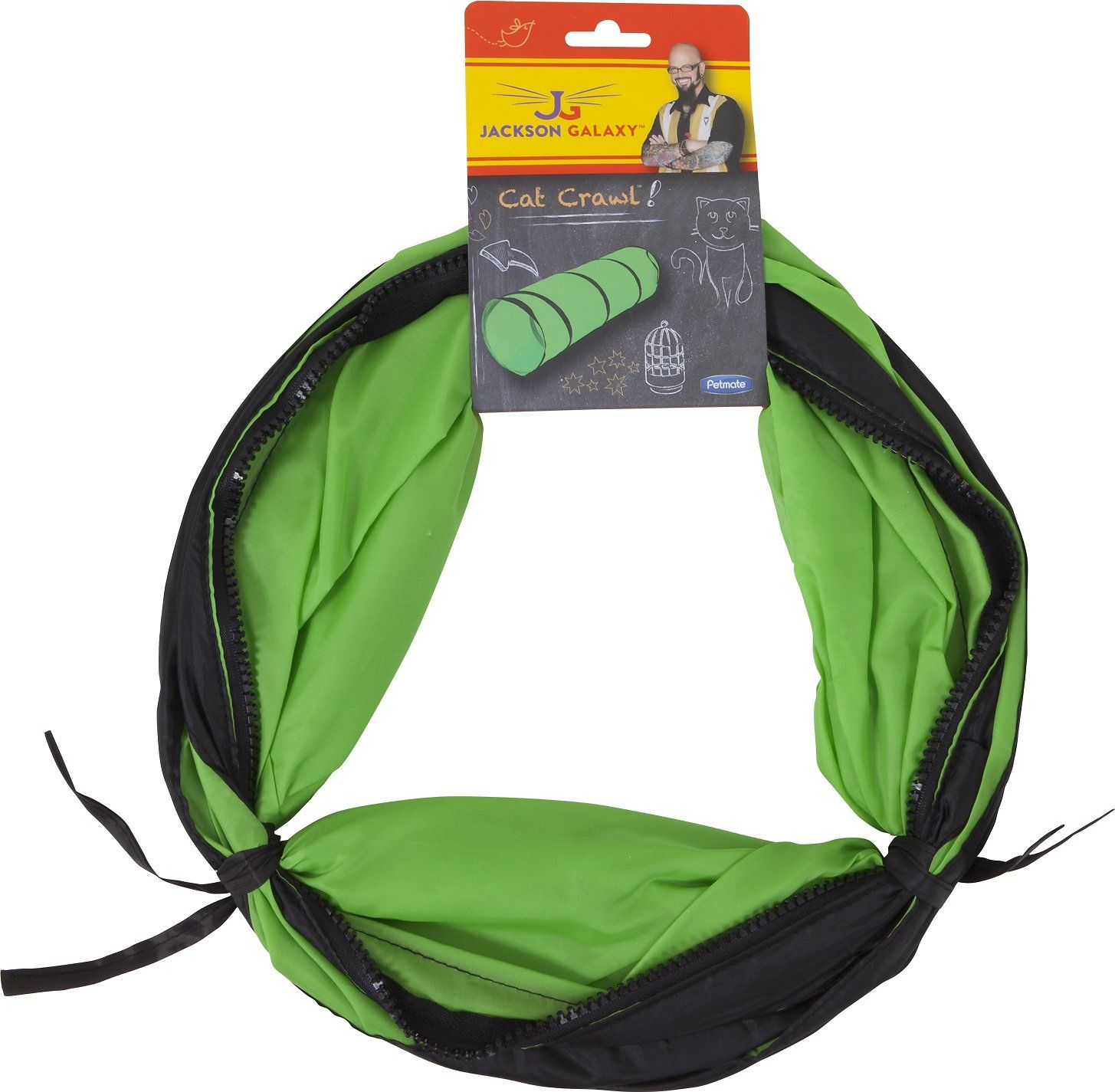 Jackson Galaxy Cat Crawl Cat Toy is not just a tunnel, but