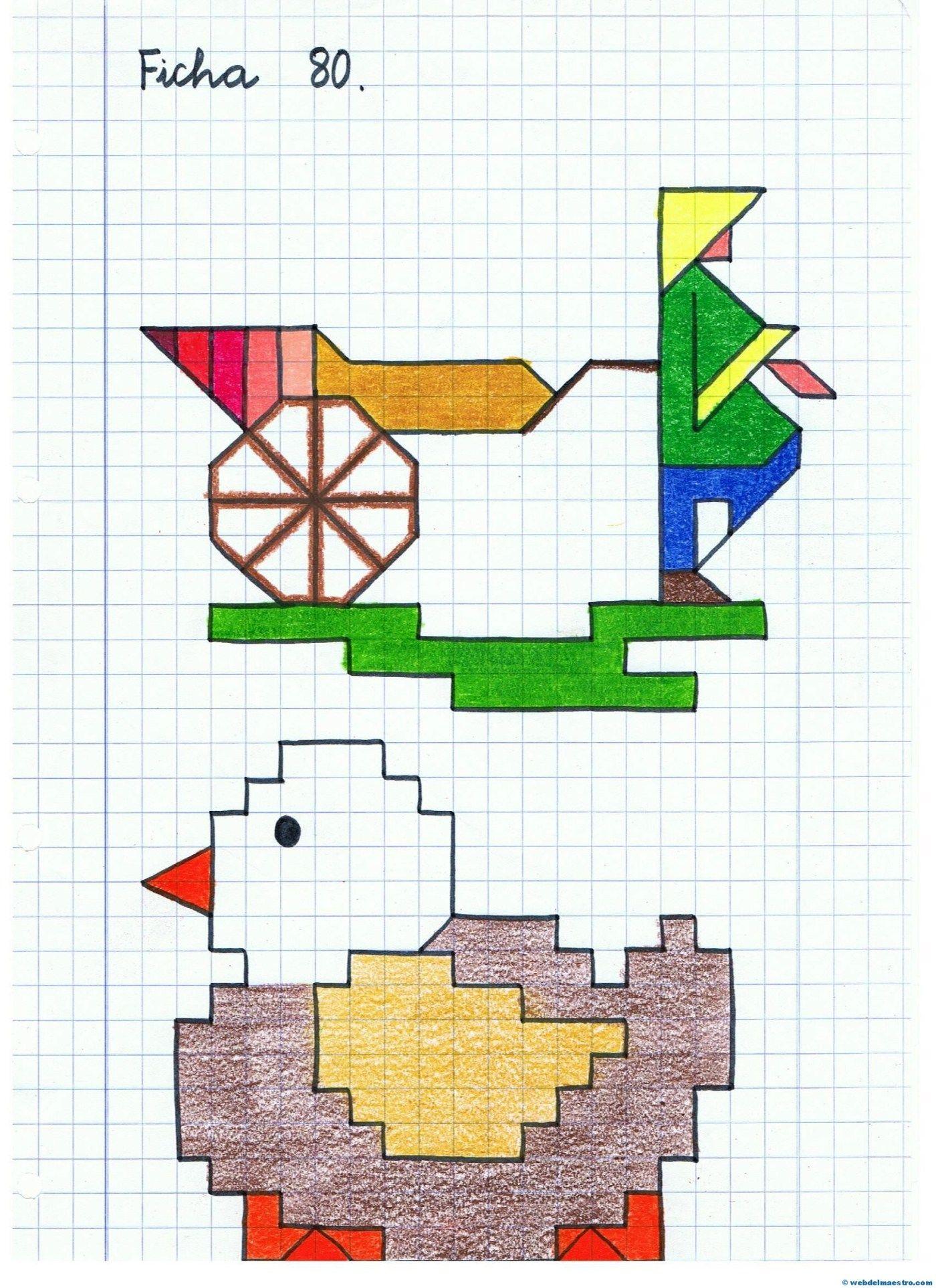 27++ Dibujos en cuadritos trends