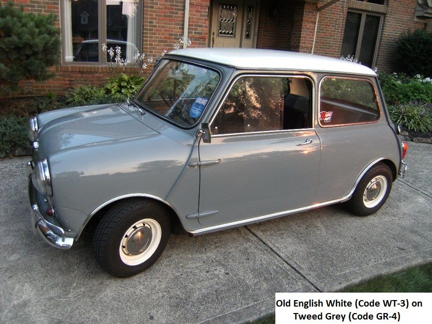 Mk1 Morris Mini Cooper S Old English White On Tweed Grey Classic