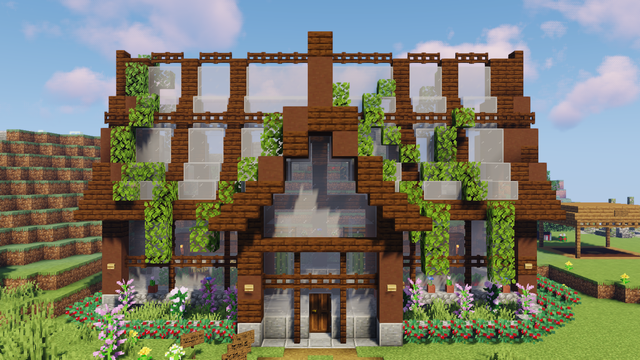 A build from Grian i built as a shop in our realm.