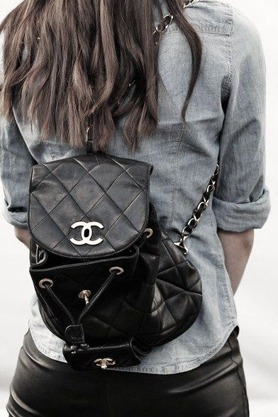 afe9ae2ecc70 Chanel backpack. In my dreams.