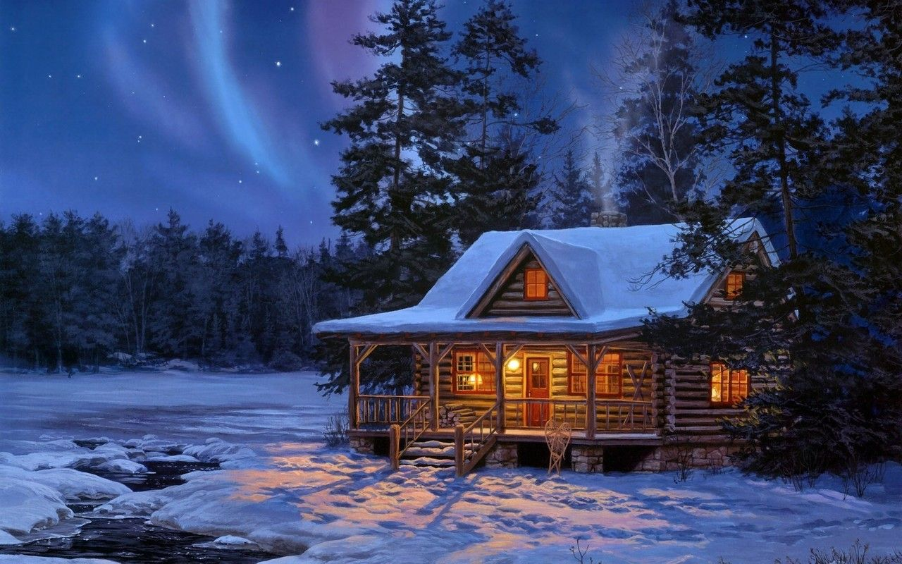 Log Cabin Wallpaper Google Search Snow Cabin Cabins In The Woods Winter Cabin