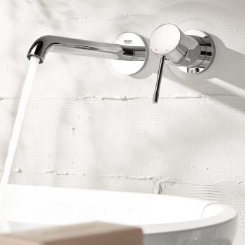 Grohe Essence Neu 2-Loch-Waschtischbatterie, für Wandmontage - wand wasserhahn küche