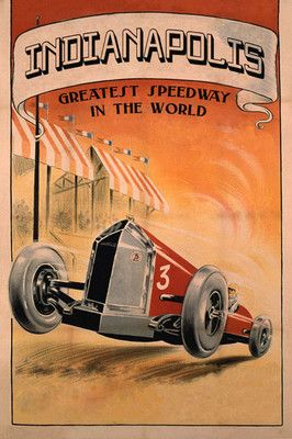 AD9 Vintage Indianapolis Motor Speedway Racing Advertisement Poster A4