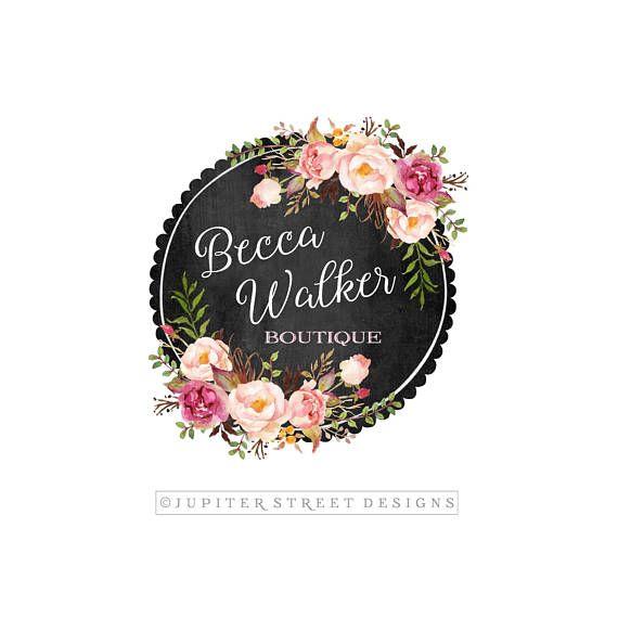 Flower Logo Design Rose Logo Premade Logo Design Rose Logo Etsy Floral Logo Design Logo Design Etsy Branding Packaging