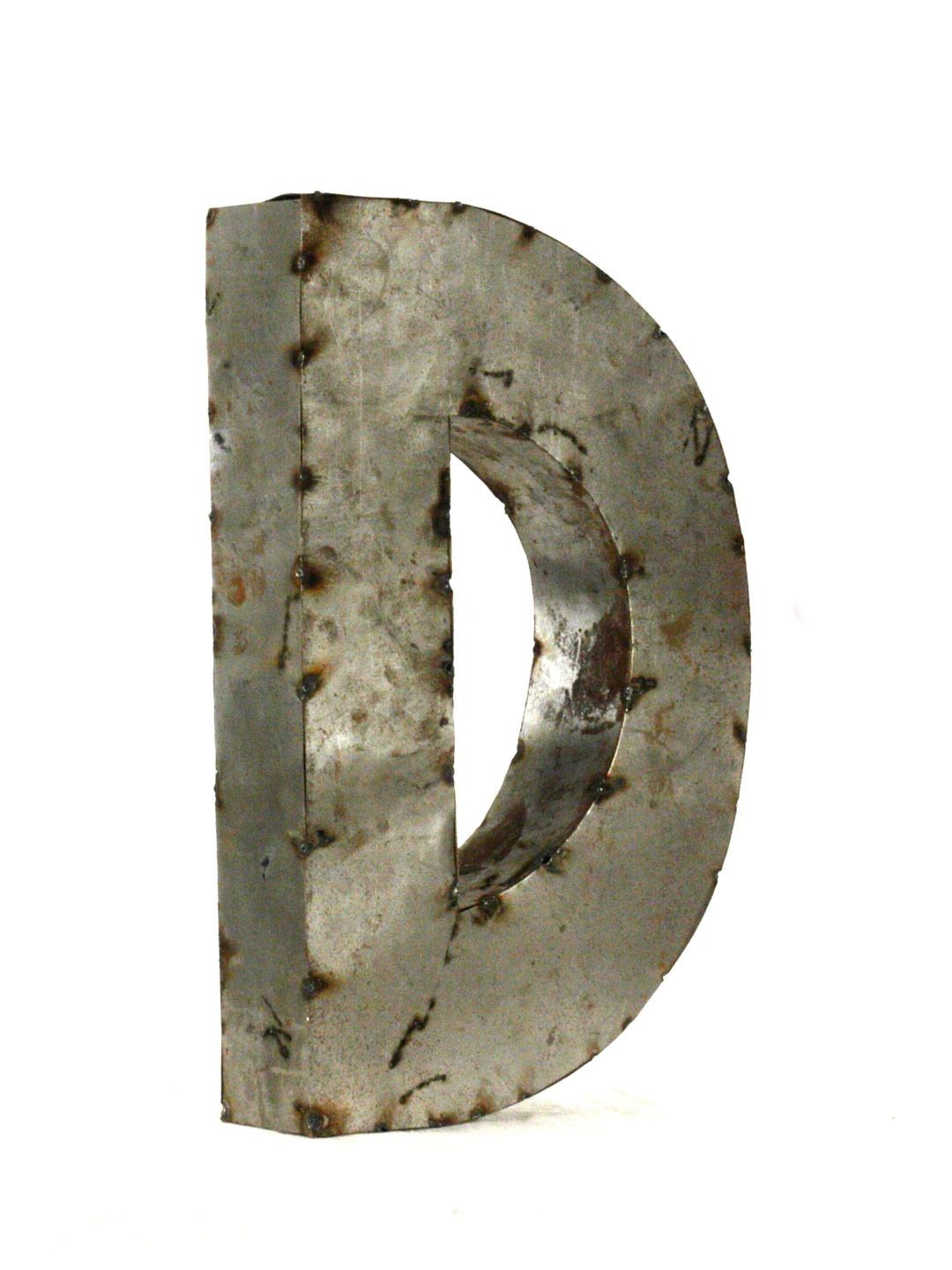 Small Decorative Metal Letters Zentique Letter D Small Rustic Metal  Home Decor  Pinterest