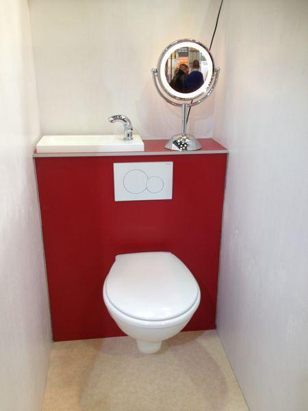 wc suspendu avec lave main integre 7