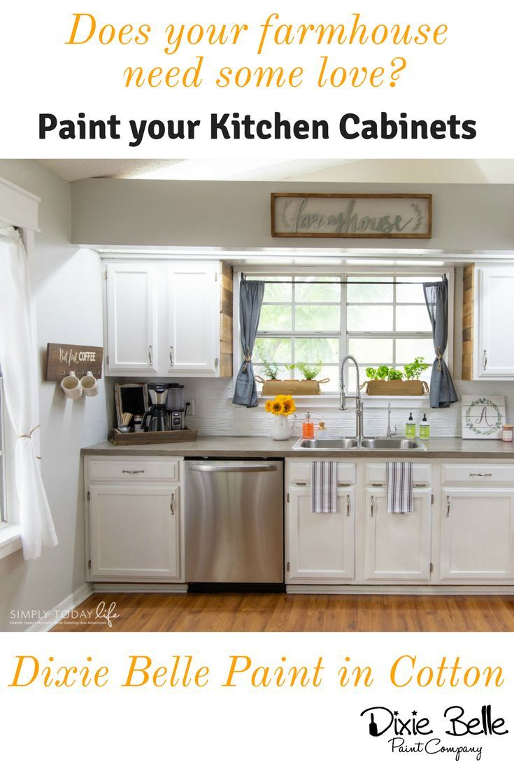 Does Your Farmhouse Need Some Love Paint Your Kitchen Cabinets With Dixie Belle White Painted Furniture Dixie Belle Paint Painting Kitchen Cabinets