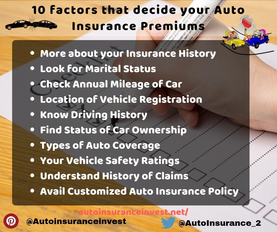 10 Vital Factors That Decide Your Auto Insurance Premiums Car