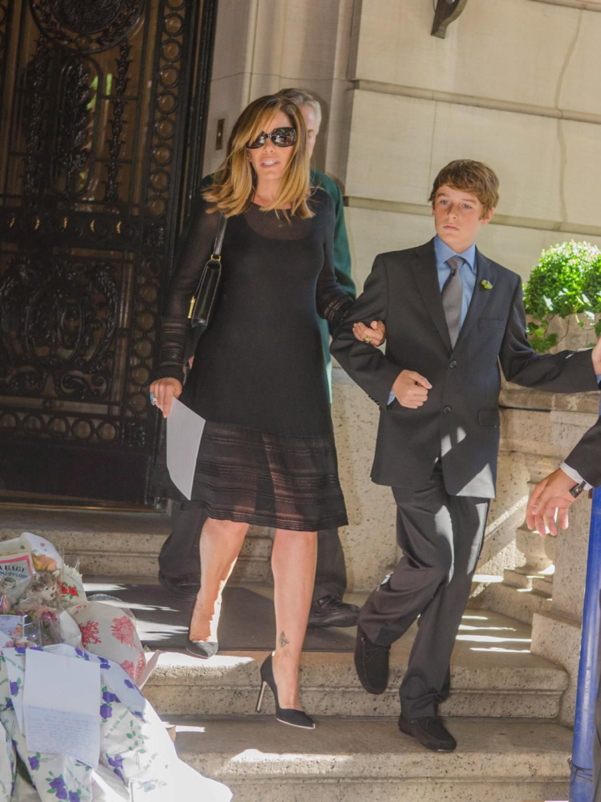 Friends and family gathered at Temple Emanu-El in New York City on Sept. 7, 2014 to say goodbye to iconic comedian Joan Rivers.
