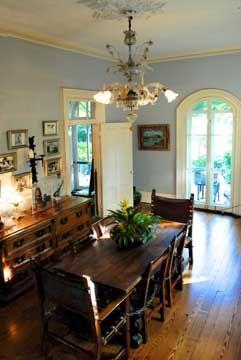 Dining room of ernest hemingway 39 s key west home home for Key west interior design