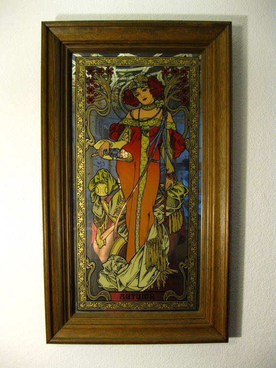 Vintage Very Rare American Alphonse Mucha Four By