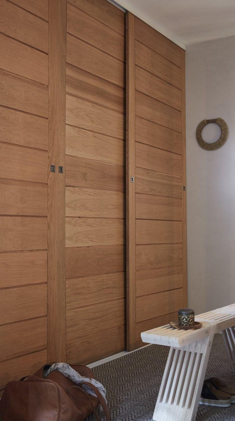 Des Portes Coulissantes Pour Le Dressing Leroy Merlin Porte Placard Coulissante Porte Placard Amenagement Placard Chambre