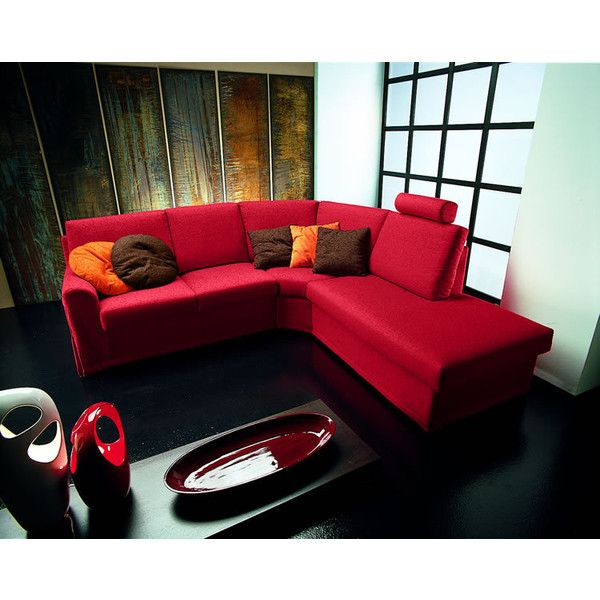 L Shape Red Couch Modern Homes Interior Design And Decorating Ideas Liked On Polyvore Red Couch Living Room Red Sofa Red Couch Decor