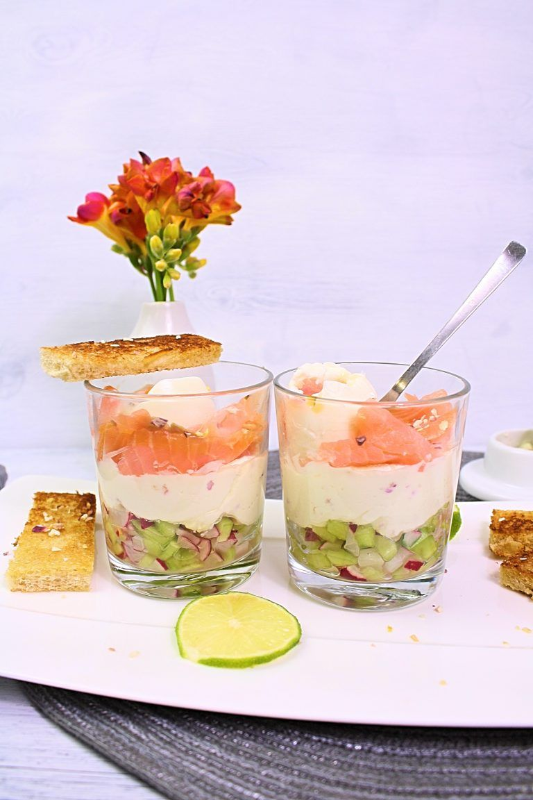 Eier im Glas mit Lachs und Schmandcreme - Friedas Kitchen on my mind