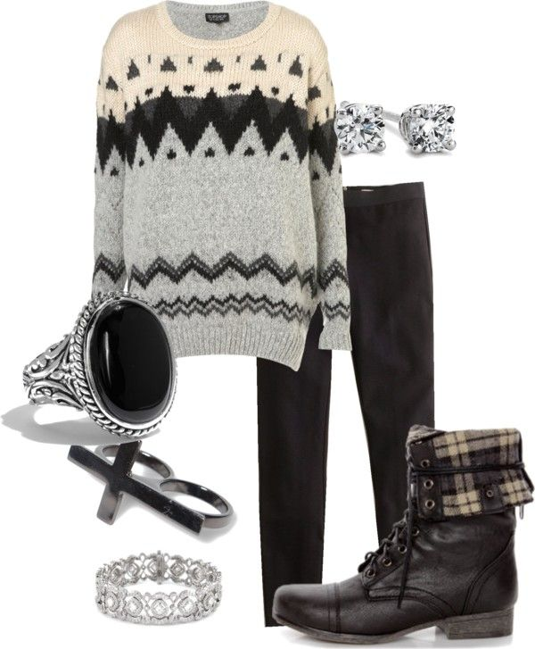 """Black Edgy"" by balcarcelge on Polyvore"
