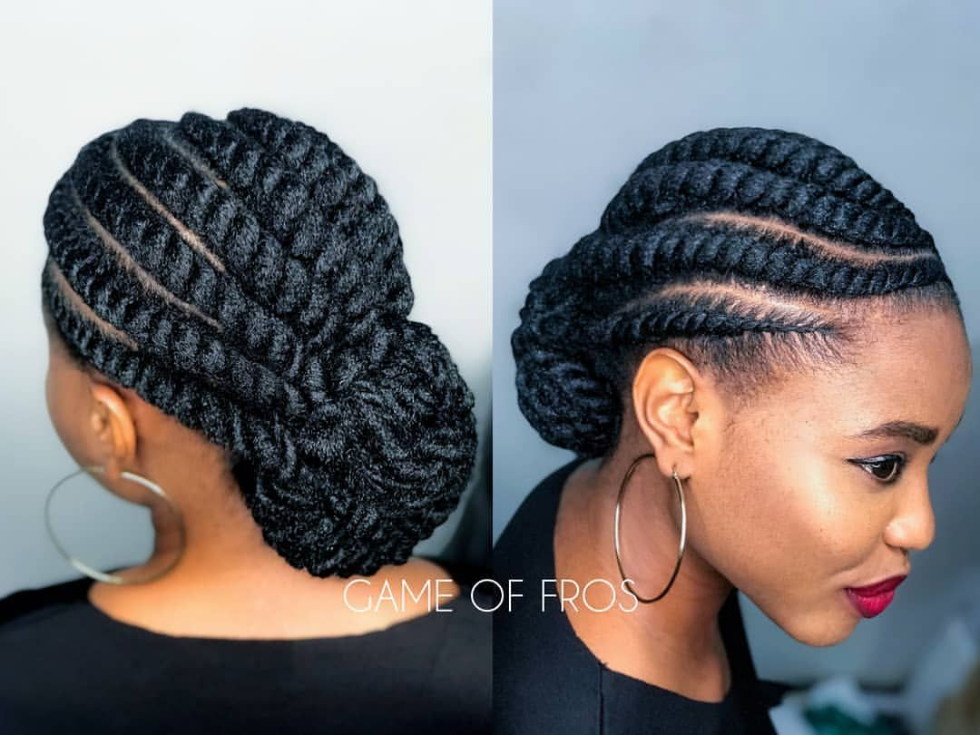Flat Twists For @ekanaturals🔥 . *No Added Hair* . Bookings
