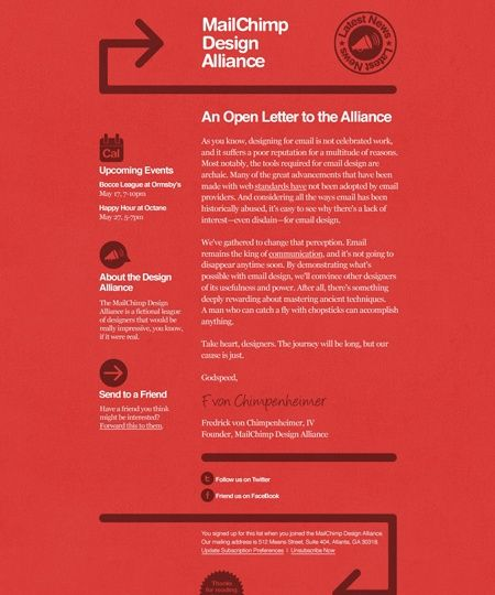 39 Beautiful Email Newsletter Templates - MailChimp Work - newsletter templates word 2007
