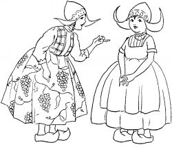 Coloring pages are good for illustrating ideas to children