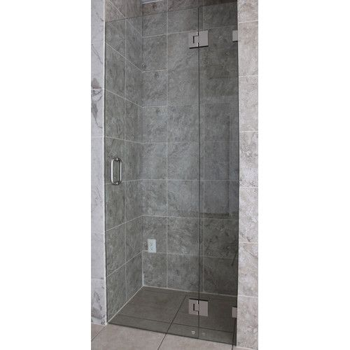 36 25 X 78 Hinged Frameless Shower Door Shower Doors Frameless Shower Doors Frameless Shower