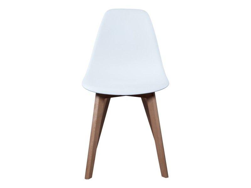 Chaise scandinave coque blanche - Vente de THE CONCEPT FACTORY - conforama chaises salle a manger