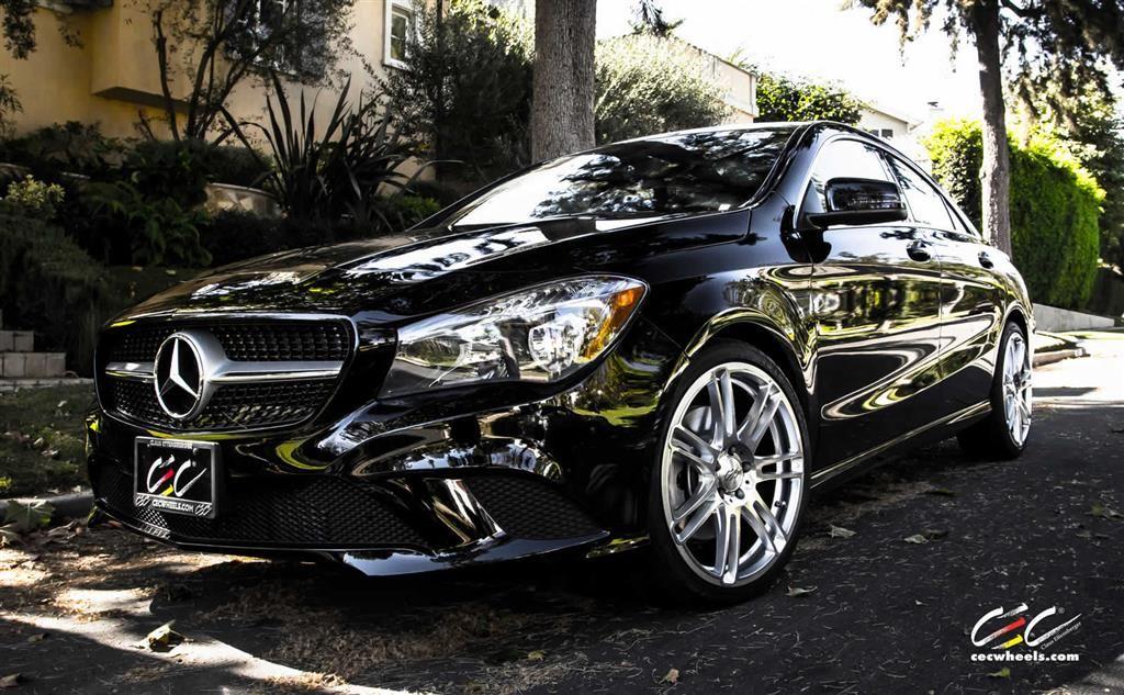 Mercedes Benz Cla250 With Custom Wheels Cec Los Angeles Ca Us