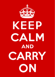 The story of this famous poster -> http://www.howtomakeit.com/2012/03/the-story-of-keep-calm-and-carry-on/