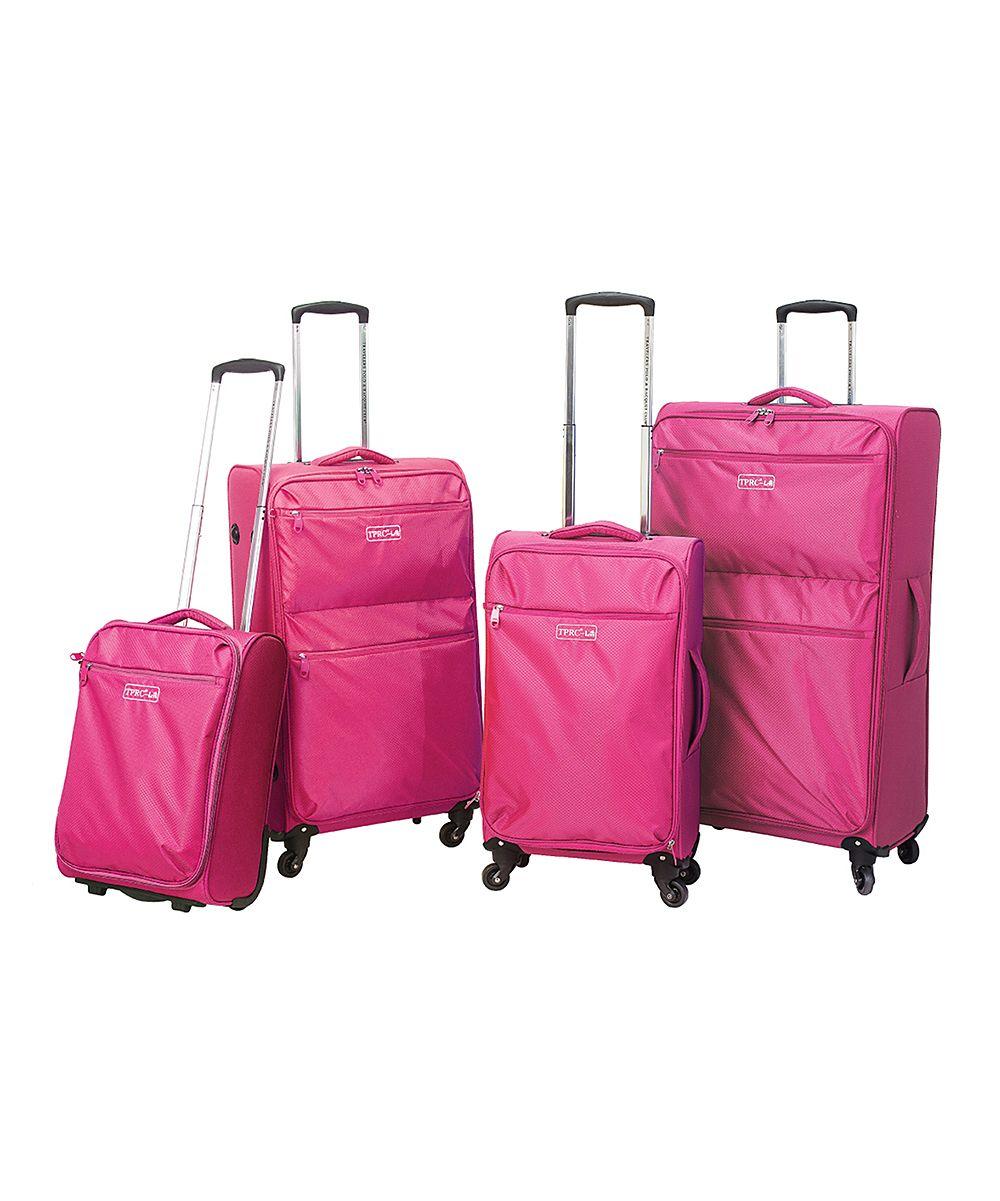 Pink Cloud Four-Piece Lightweight Luggage Set   Pink, Lightweight ...