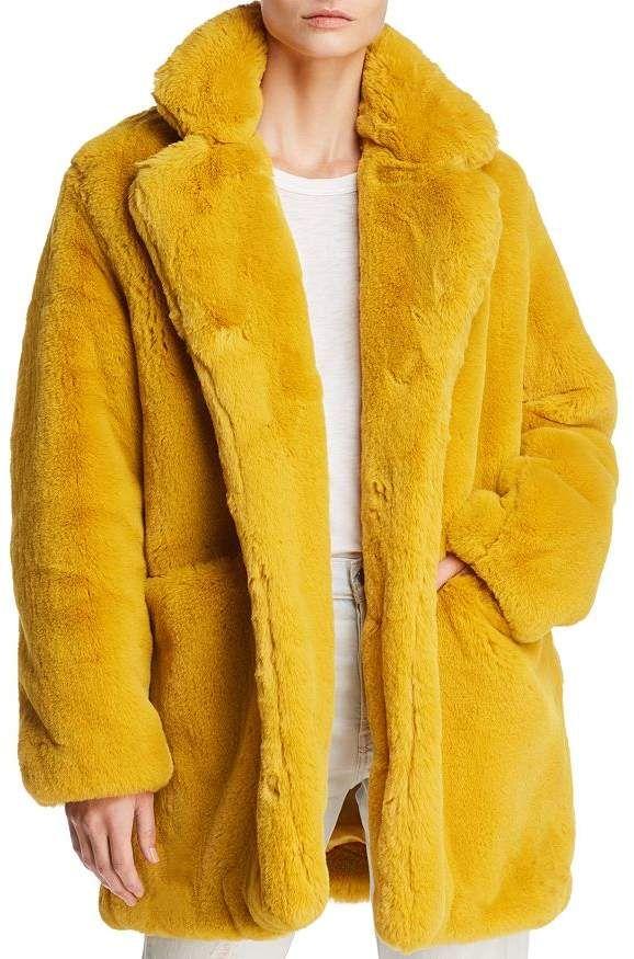 Long Length Sheepskin Coat Tan : Sophia