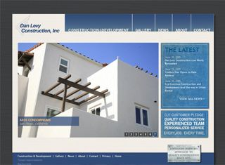 This construction company website example carries its logo theme ...