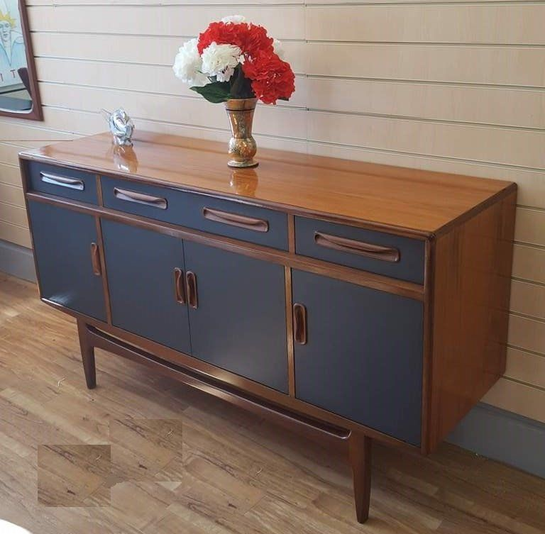 G Plan Vintage Retro Sideboard Fresco Danish Style Upcycled By Retronovia On Etsy Painted As Retro Sideboard Sideboard Furniture Plans Retro Vintage Sideboard