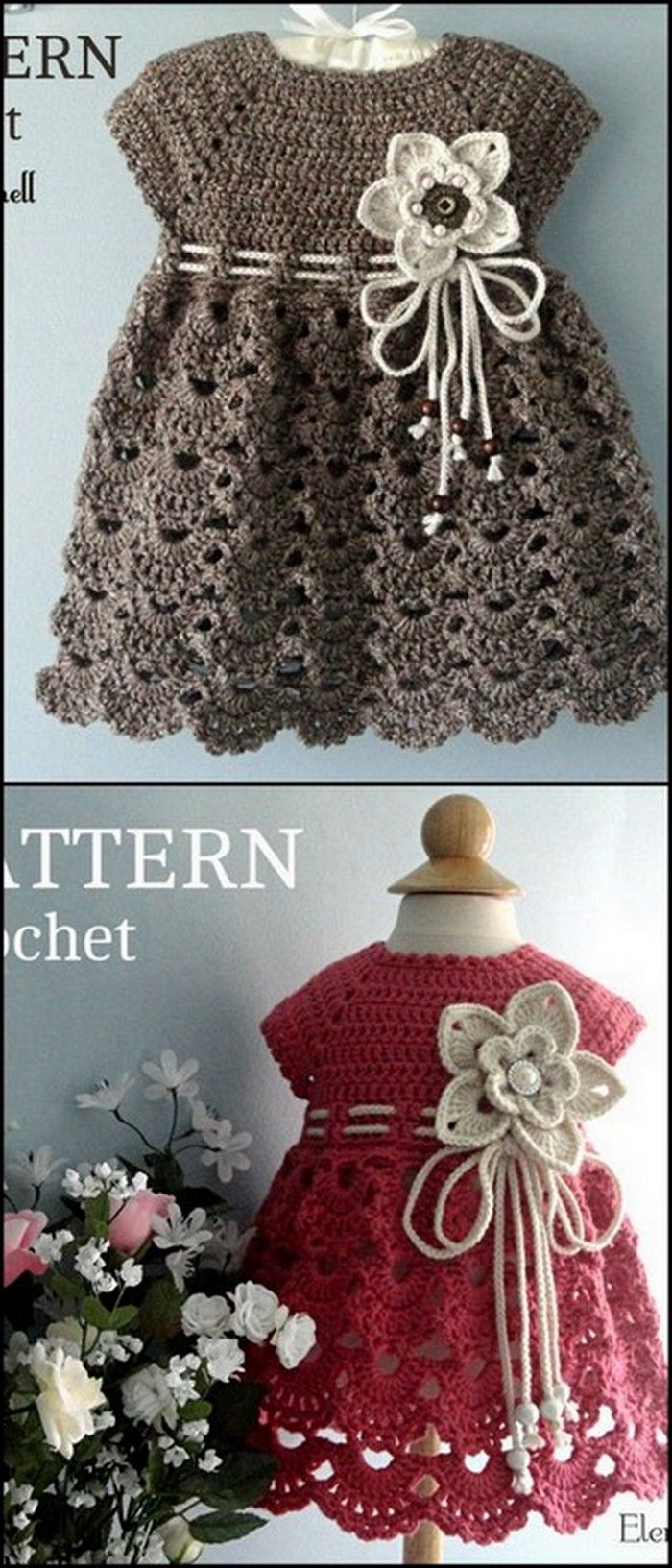 Simple Skirt or Frock Free Crochet Pattern #vestidosparabebédeganchillo