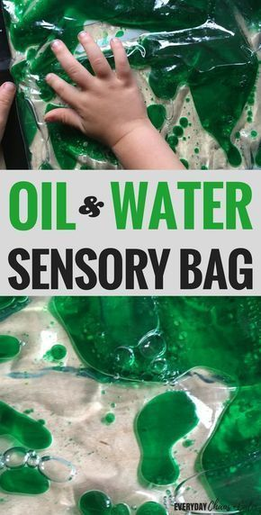 Oil And Water Sensory Bag For Science Exploration