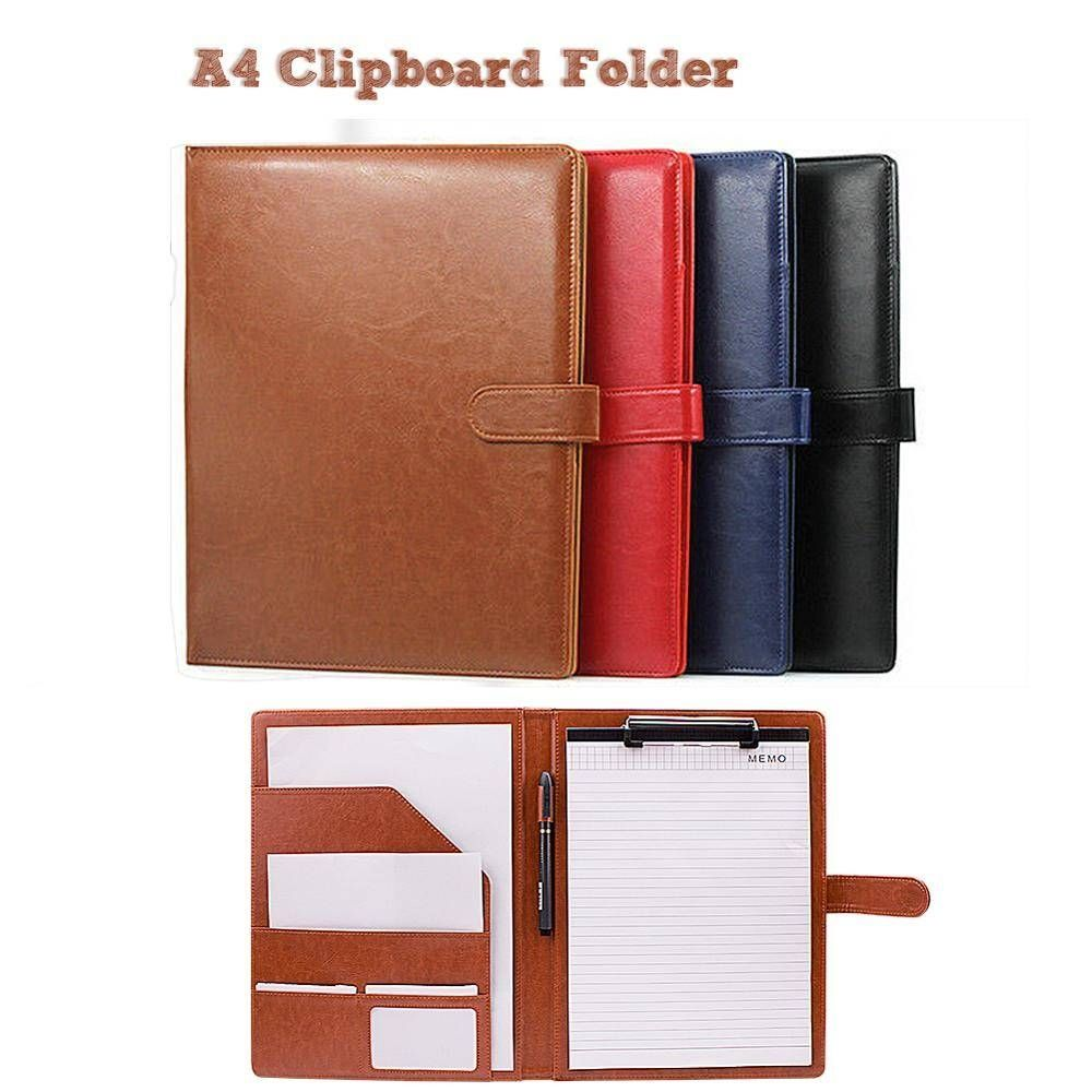 A4 folder covers pu leather document folder briefcase for