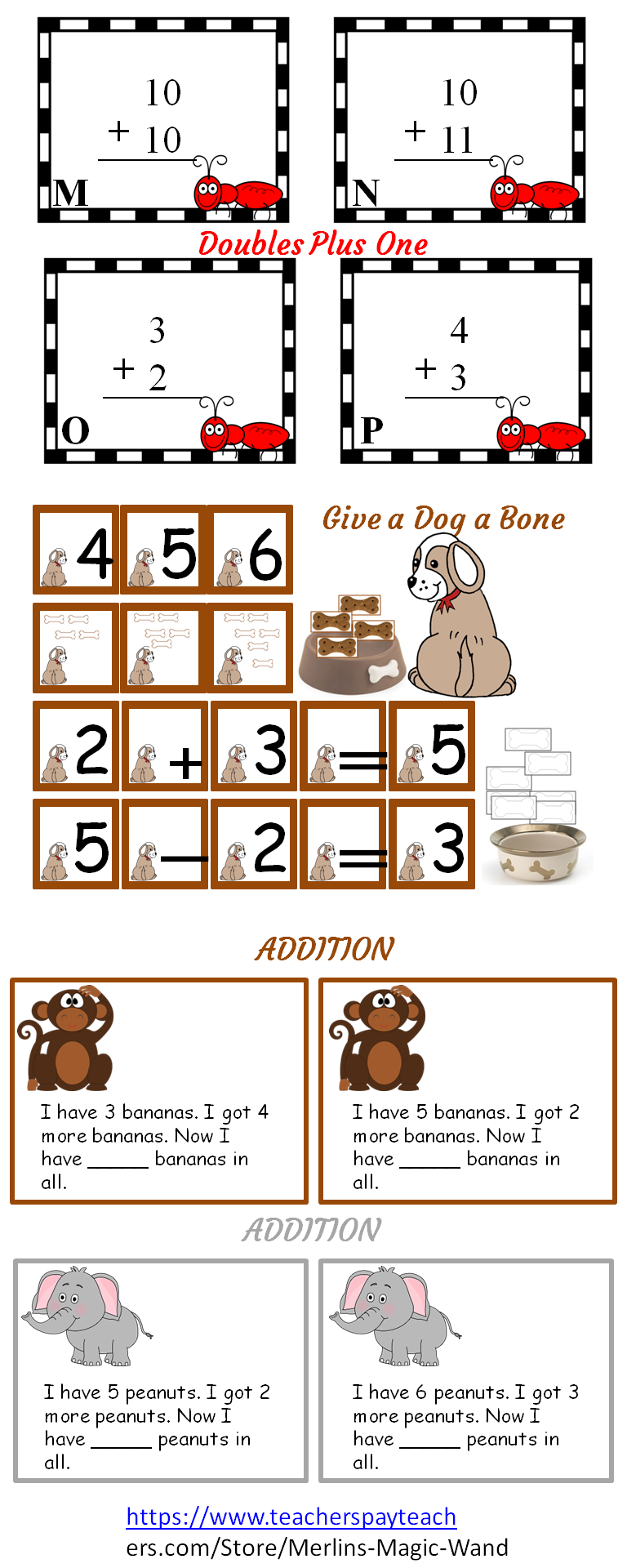 K-2 Math Resources Addition Subtraction Doubles | K-8 Teaching ...