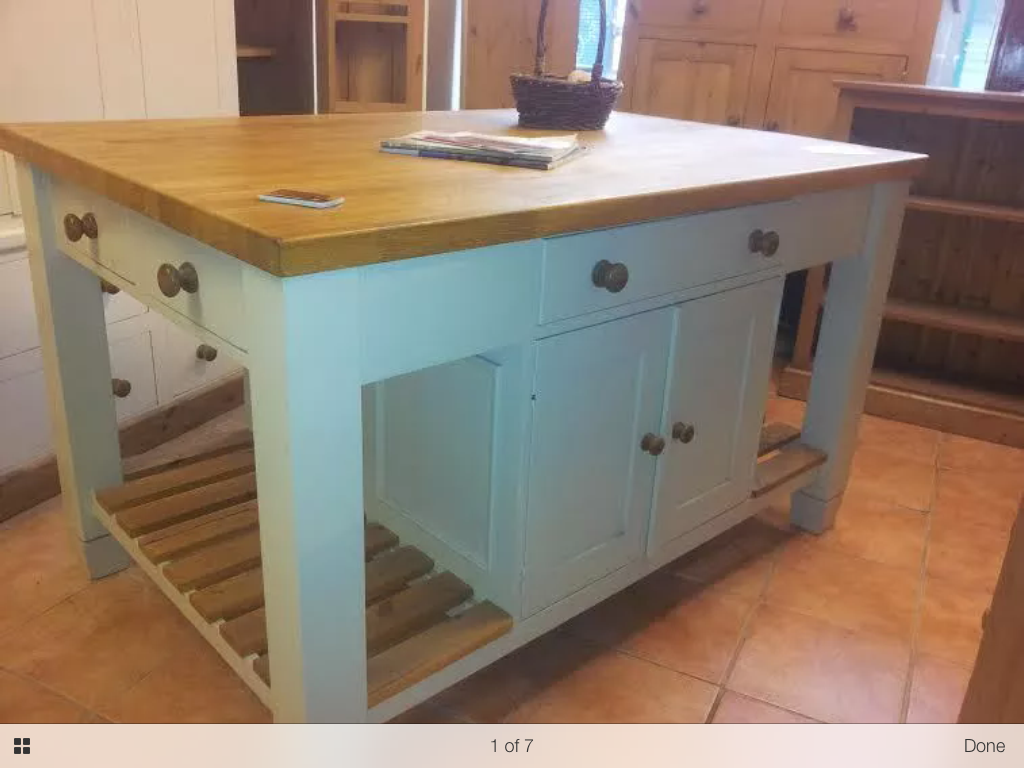 Bespoke, Solid Wood Kitchen Island Unit with Oak top from The ...